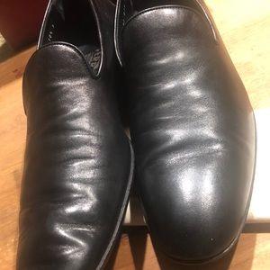Gemini Nero Kid black slip on loafer slightly used